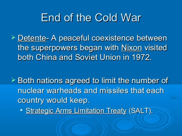 Peaceful coexistence cold War essay