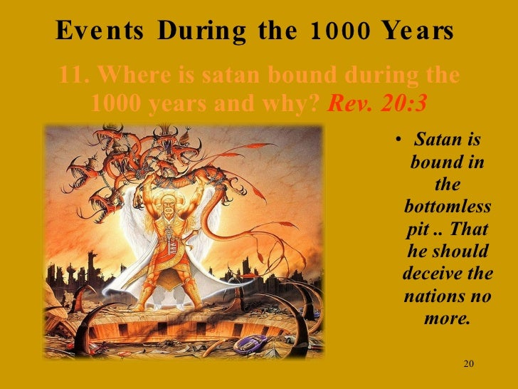 1000 years of revelation essay An end times timeline with a list of revelation bible prophecy events to be fulfilled  the wicked destroyed: - after the 1000 years in heaven,.