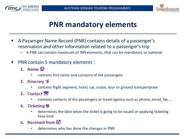 Lesson 8 Basic PNR