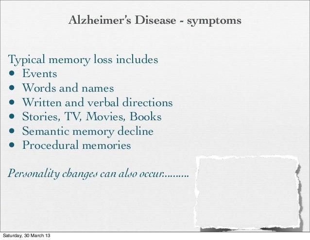 Dementia: Alzheimer's Disease and Person