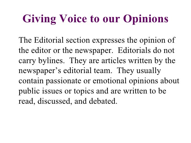 Lesson 8 editorials & opinion pieces student copy