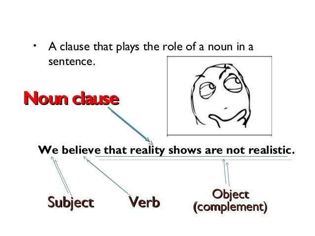 Instructional webinar noun clauses ccuart Image collections