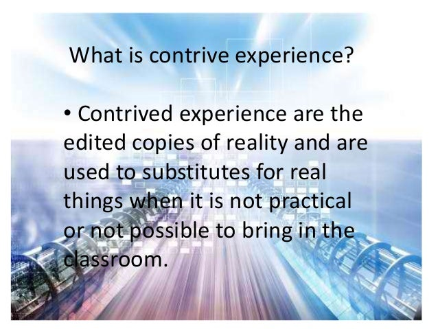 Lesson 8 teaching with contrived experiences Slide 2