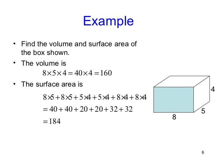 Lesson9 5 6 example find the volume and surface area ccuart Choice Image