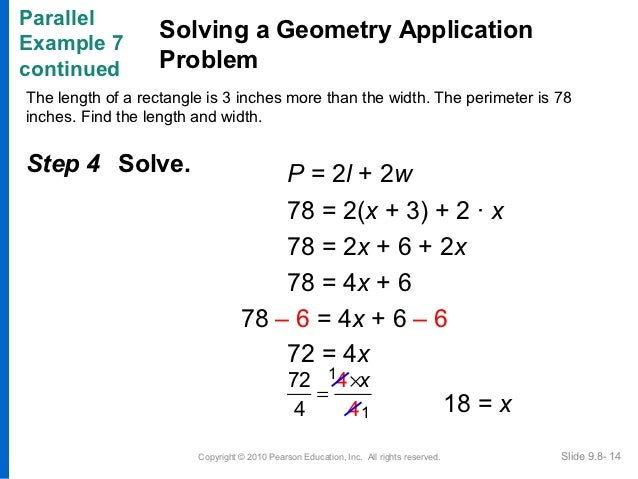 how to solve geometry word problems