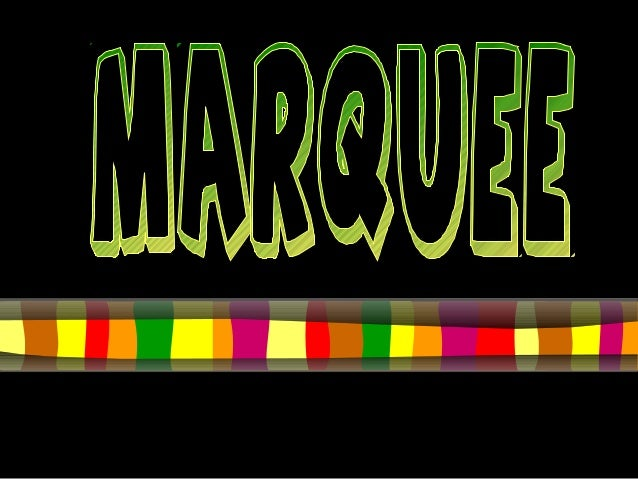What is a marquee? Use to add an animation effect to text.