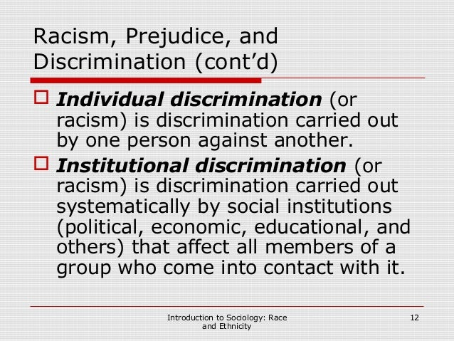 Scars of discrimination due to racism