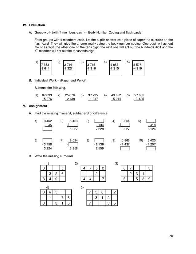 Lesson Guide Gr 3 Chapter I Subtraction V1 0