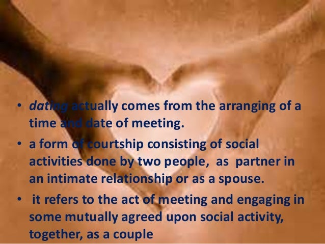 Is Dating And Courtship Important In A Relationship