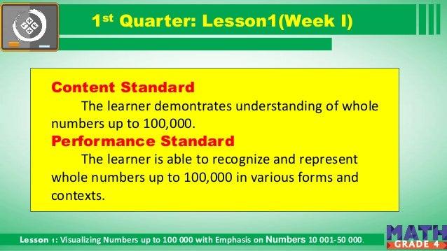 Math Grade 4 1st Quarter Lesson 1  Slide 2