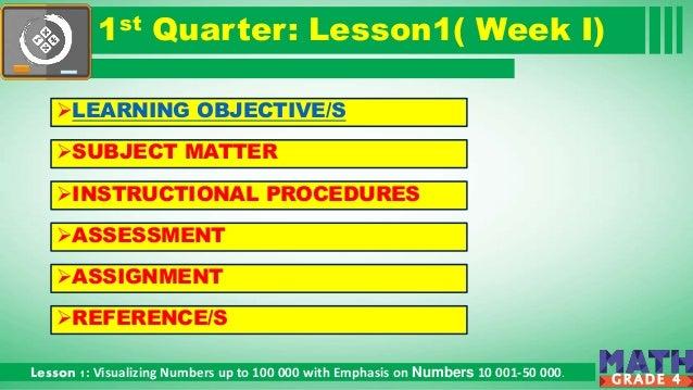Math Grade 4 1st Quarter Lesson 1  Slide 3