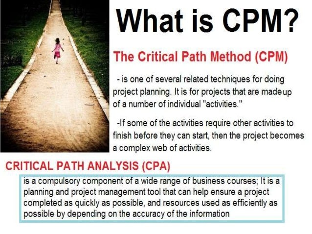 lesson in feasibility study critical path method