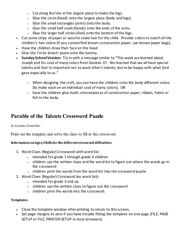 parable of the talents lesson