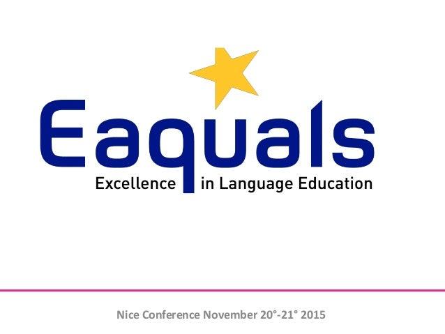 Nice Conference November 20°-21° 2015