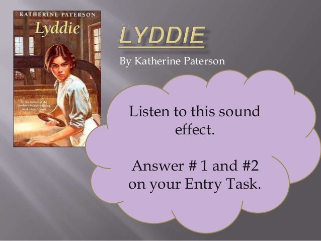 the petition in lyddie a historical fiction novel by katherine paterson