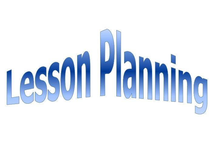 Lesson Plan Slide 1