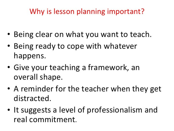... 4. Why Is Lesson Planning Important? Home Design Ideas