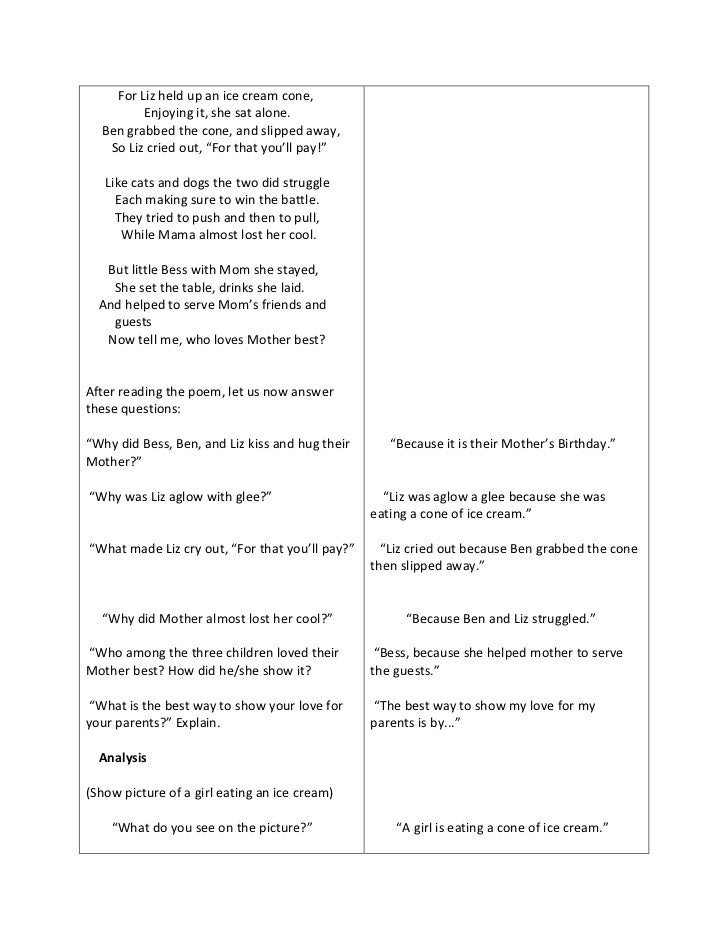 sample lesson plans for elementary