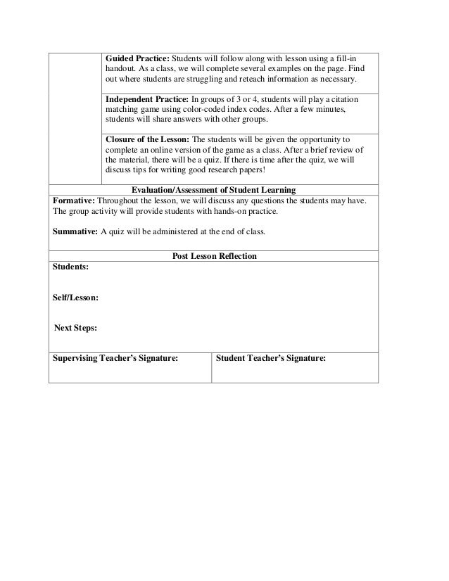MLA Citation Lesson Plan – Mla Works Cited Worksheet