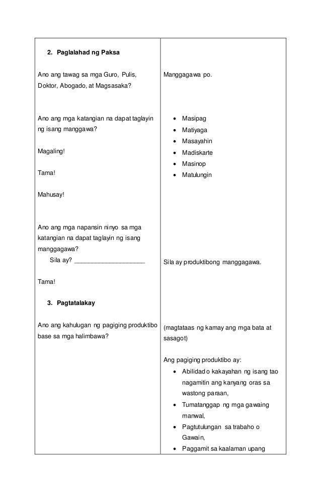 lesson plan in filipino 6 pdf