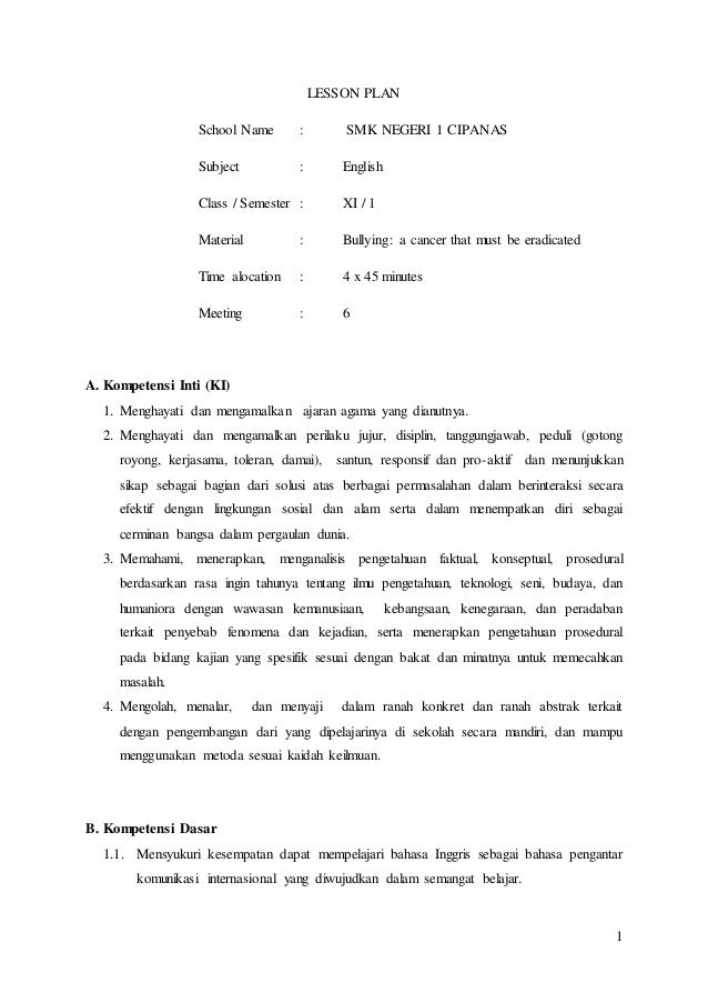 secondary school lesson plan template - sample high school lesson plan template 1000 images
