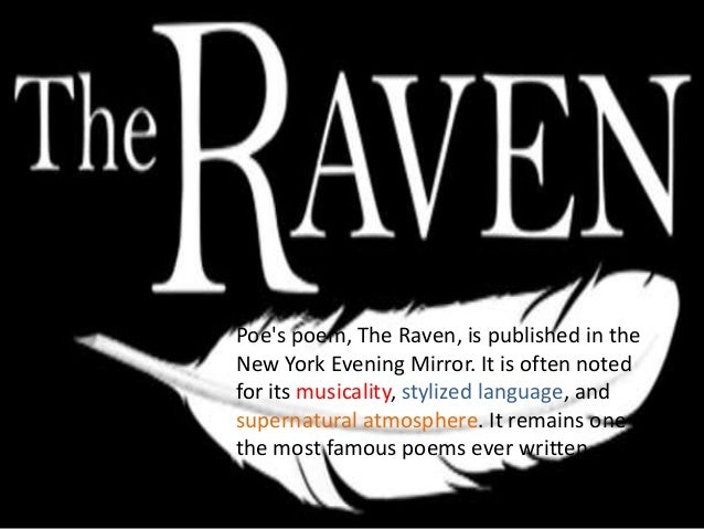 the raven poem explanation