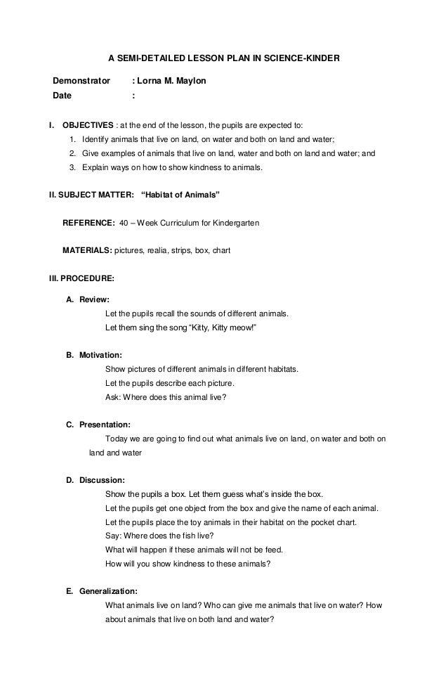 lesson plan for science grade 5