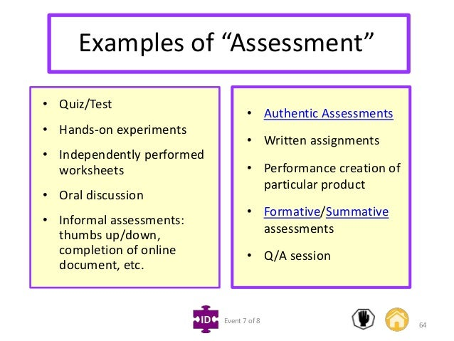 Informal Assessment Example Assessment Testing In The Classroom Big