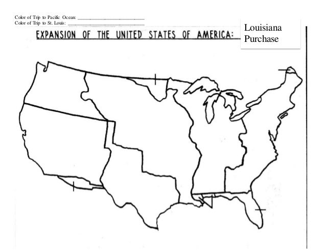 Worksheets Louisiana Purchase Activity : Lesson plan map activity