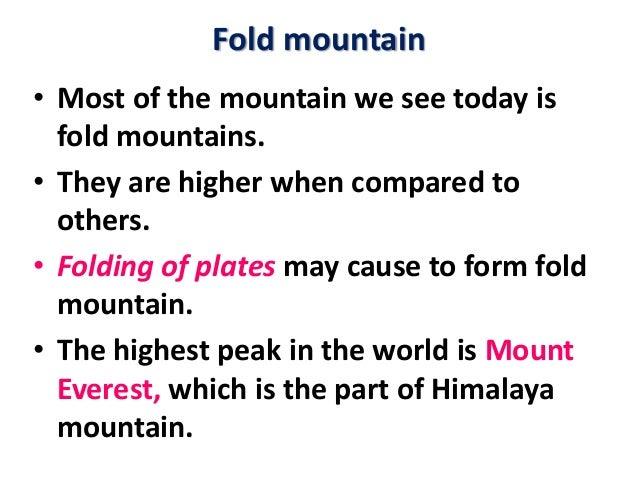 Lesson Plan Mountains