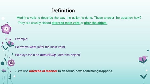 Lesson Plan Adverb Of Manner