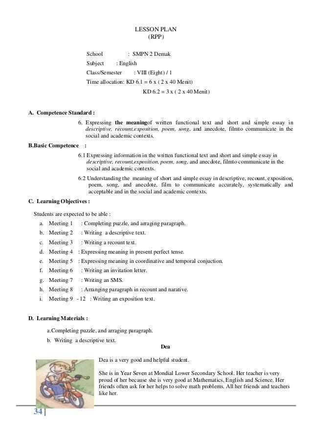 Lesson plan 61 and 62 lesson plan rpp school subject smpn 2 demak english classsemester stopboris Images