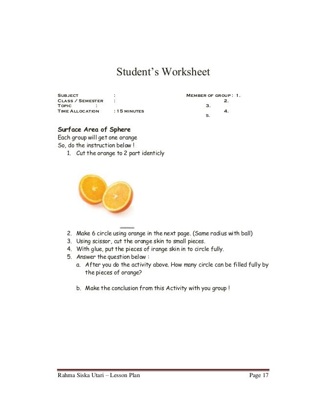Lesson plan 9th grade junior high school – Math Worksheets for High School