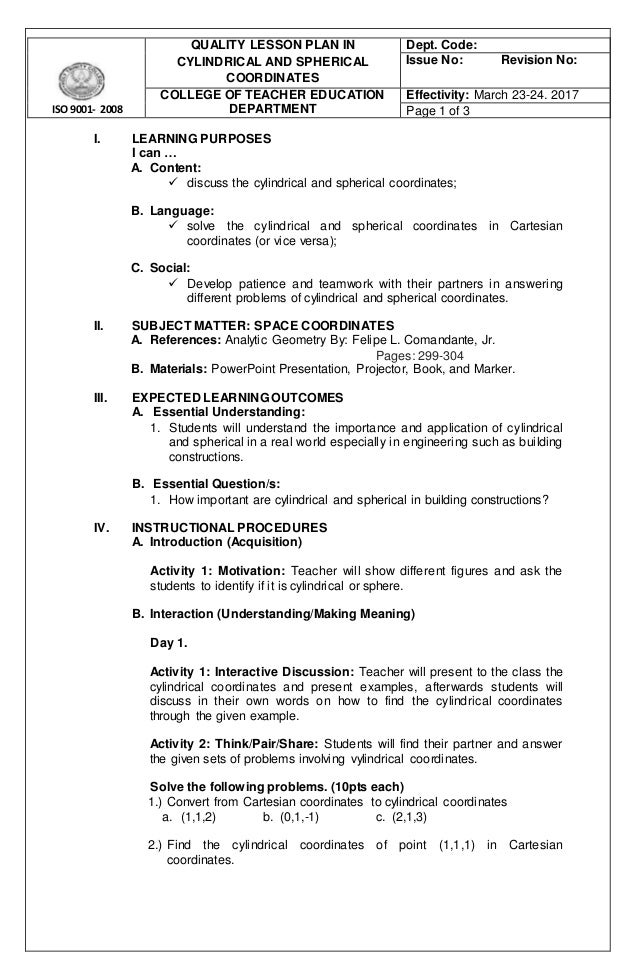 College Lesson Plan Template Blank Lesson Plans For Teachers - College lesson plan template