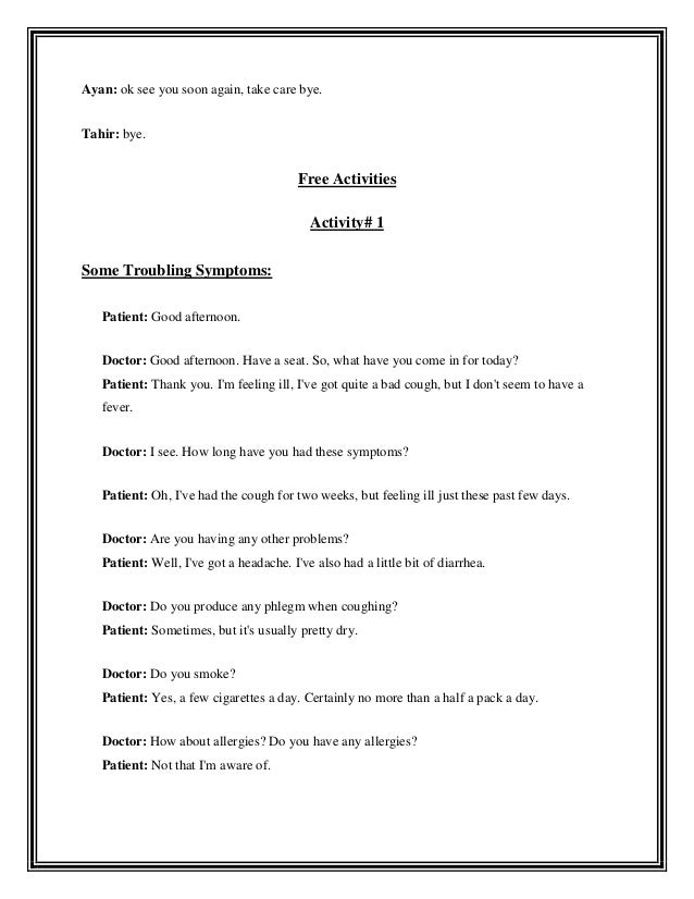 Lesson plan for speaking skills