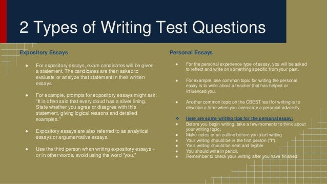 preparing for the cbest writing section expository essays