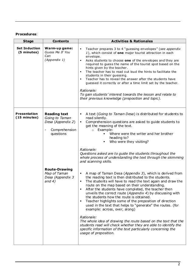 Lesson plan english 2 Slide 2