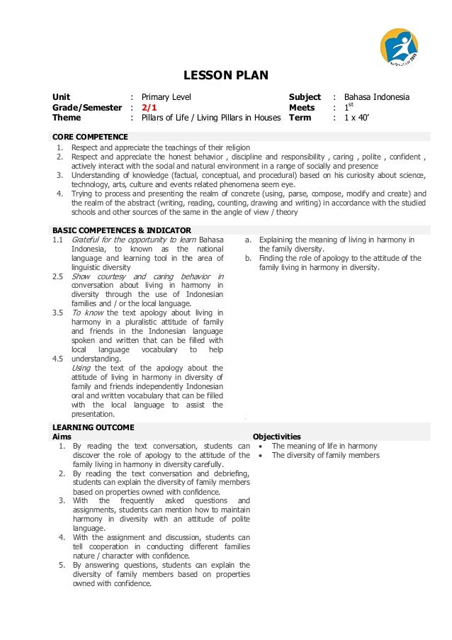 lesson plan template primary