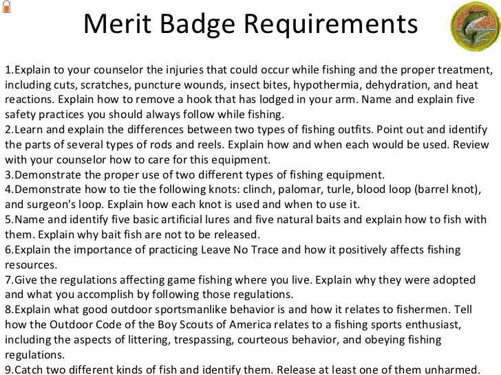Lesson plan fishing – Fishing Merit Badge Worksheet