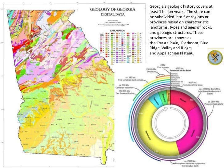 Geologic Map Of Georgia.Lesson Plan Geology