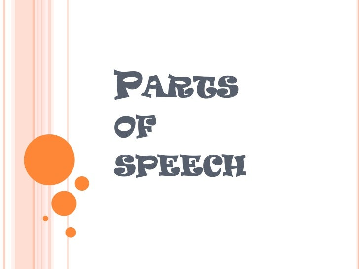 Parts of speech<br />