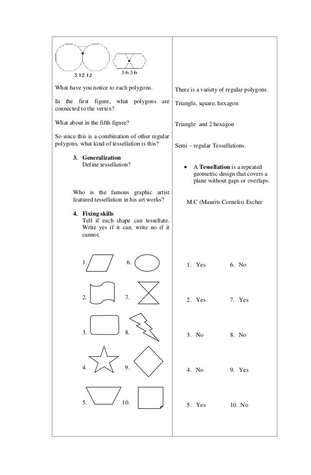 lesson plan in elementary geometry