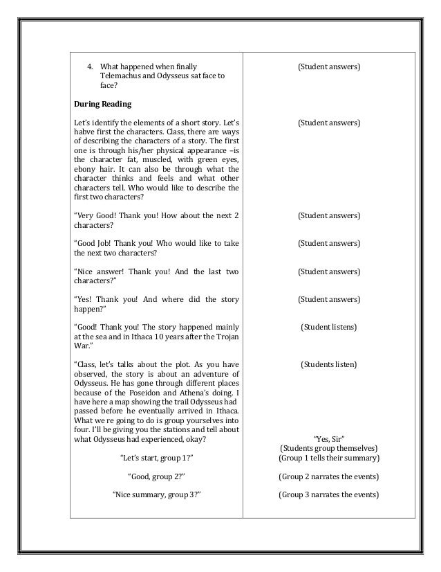 Short stories for high school lesson plans short story for British council lesson plan template