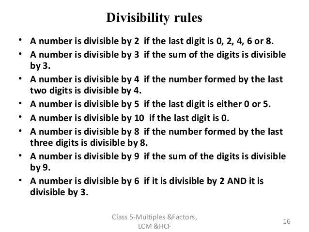Lesson plan multiple and factorsppt v 3 – Worksheet on Divisibility Rules