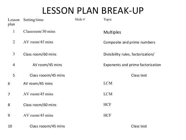 Lesson plan multiple and factorsppt v 3 – Test of Divisibility Worksheets
