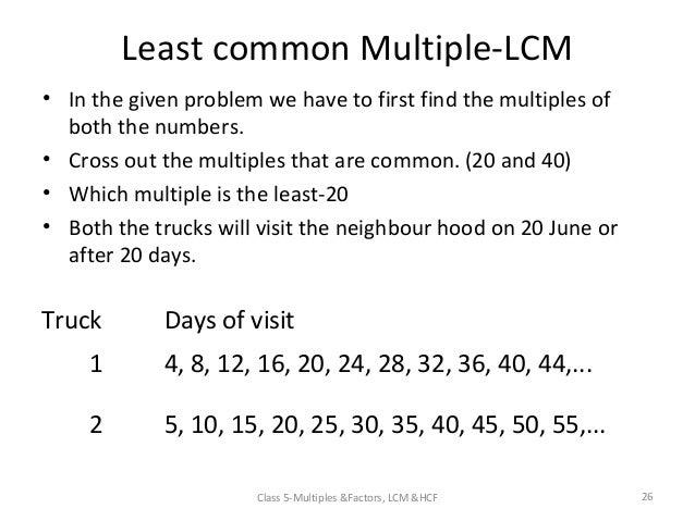 Lesson plan multiple and factorsppt v 3 – Least Common Multiple Worksheet 5th Grade