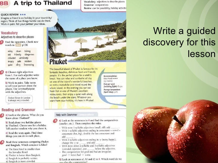 Write a guided discovery for this lesson