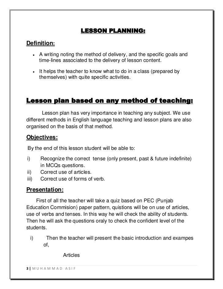 Teacher Lesson Plan Image Effective Lesson Planning And Delivery