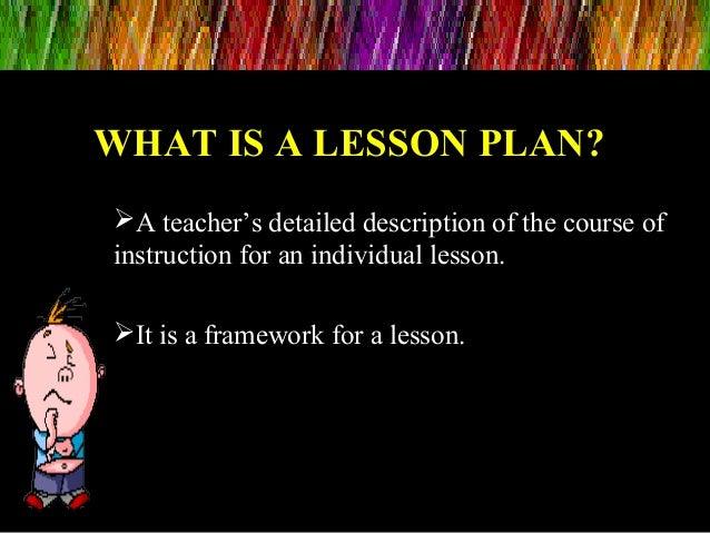 Lesson planning Slide 2