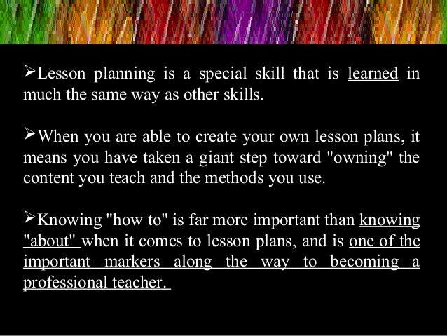 Lesson planning Slide 3